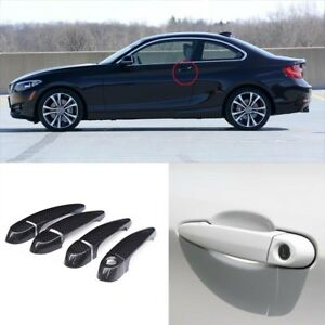 Carbon Fiber Exterior Door Handle W o Smart Key Cover Trims For Bmw F22 F23