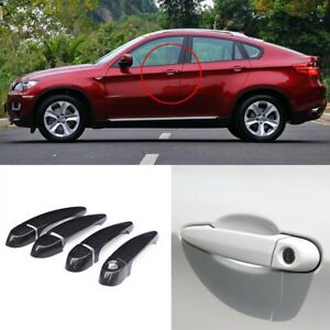 Carbon Fiber Exterior Door Handle W o Smart Key Cover Trims For Bmw X6 E71 08 13