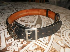 Police Duty Leather Belt Size 34 Policeman Cops Security