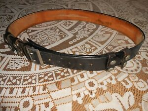 Police Duty Leather Belt Size 46 Policeman Cops Security