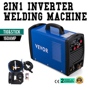 160 Amp Tig Torch Stick Arc Dc Welder 110 230v Dual Voltage Stable Portable