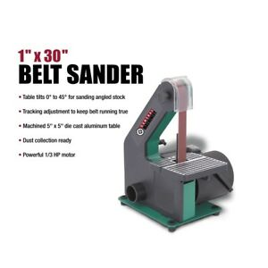 New Belt Sander 1 X 30 Bench Top 1 3 Hp Motor Workshop Adjustable Tilting Table