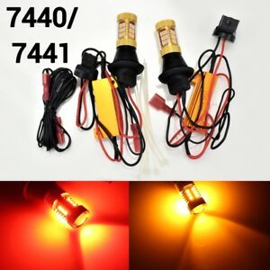 Rear Signal Light T20 7440 7441 Switchback Amber Red Led Bulb K1 For Buick Gm Ha