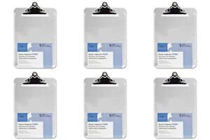 Clipboards Transparent Plastic Clipboard 12 1 2 Inches Clear spr01860 Packs