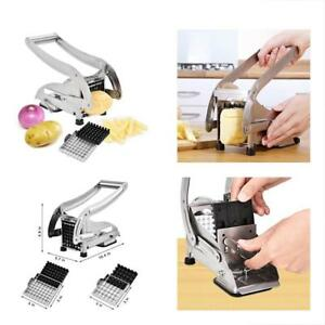 French Fry Cutter Stainless Steel Potato Slicer Vegetable Chopper Dicer With 2 I