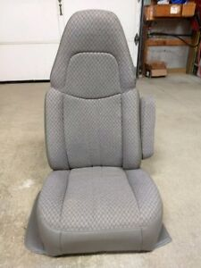 97 09 Chevy Express gmc Savanna Van Rh Passenger Side Gray Cloth Bucket Seat