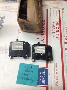 2 Two New Square D Qo1515 20 Twin tandem 120 240 15 Amp 1 Pole Breaker 6340
