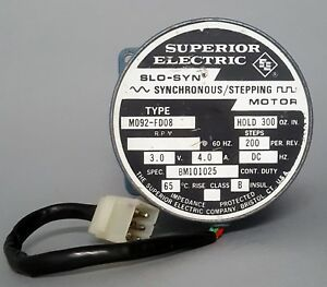 Superior Electric Slo syn Stepping Motor M092 fd08e 200 Steps Volts 3 0 Amp 4 0
