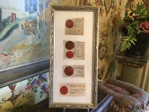 European 18th 19th Century Plaster Intaglios Set Of 5 Newly Framed Found In Uk