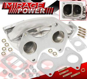 Racing Exhaust Turbo Manifold T4 Wastegate Flange 44m For 1993 1996 Mazda Rx7