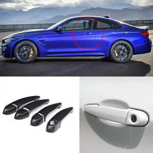 Carbon Fiber Exterior Door Handle W o Smart Key Cover Trims For Bmw M4 F82 F83