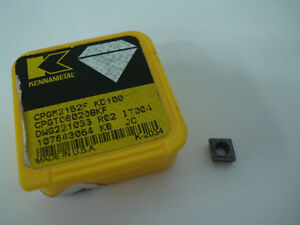 Kennametal Indexable Diamond Turning Insert Cpgm 21 52 C6 Kd100 K