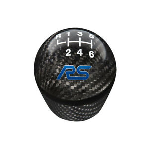 Ford Performance M 7213 frscf Focus Rs Shift Knob Carbon Fiber With 6 speed Patt
