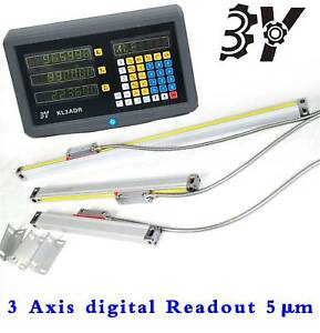 3 Axis Display Readout Digital And 3 Linear Scale Fits Mill Lathe Machine