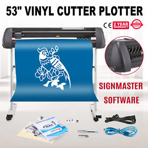 Vinyl Cutter W signmaster Software With Stand 53inch Operational Feeiciency