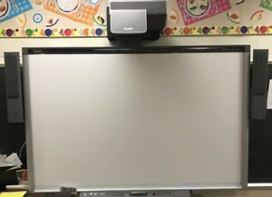 Smart Sbx885 Interactive White Board With Smart Ux60 Projector