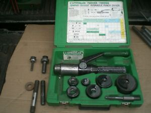 Greenlee 7804sb Hydraulic Knock Out Driver Punch Set Conduit 1 2 2