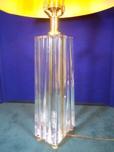 Paul Hanson Mid Century Modern Lucite Table Lamp