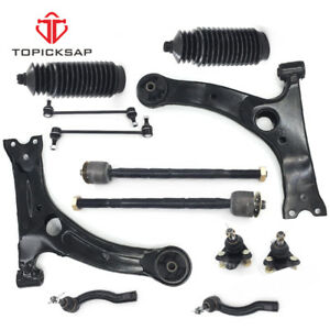 For 2003 2008 Toyota Corolla Front Lower Control Arm Ball Joint Tierod Sway Link