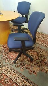 Exclusive Top Of The Line Hon Conference Chair Blue Fabric