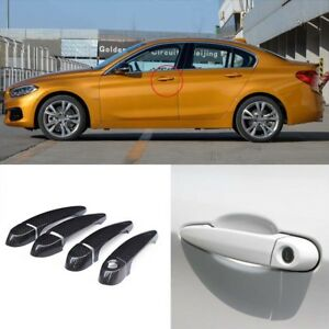 Carbon Fiber Exterior Door Handle W o Smart Key Cover Trims For Bmw E87 F20 F21