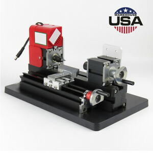 Portable Mini Metal Lathe Metalworking Woodworking Power Tool Turning Machine Us
