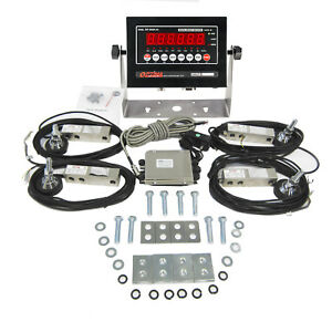 Floor Scale Package With Stainless Steel Loadcells And Indicator 10000 Lb