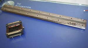 Thk Hrw35 Linear Rail Ball Guide With Rail 68cm Long 6 9cm Wide Used