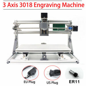3 Axis 3018 Grbl Control Cnc Router Milling Engraving Machine Printer Kit er11