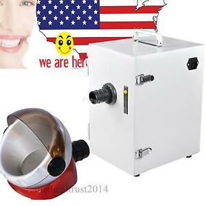 Usa Dental Single row Vacuum Air Dust Collector Collecting Machine suction Base