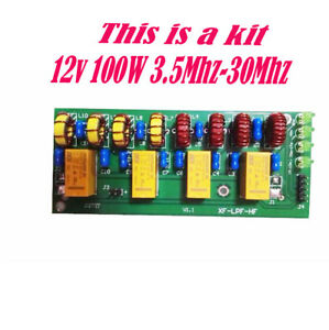 New 12v 100w 3 5mhz 30mhz Hf Power Amplifier Low Pass Filter Kit