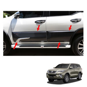 For Toyota Fortuner Crusade Ppv Body Cladding Side Guard Black Chrome 2016 17 18