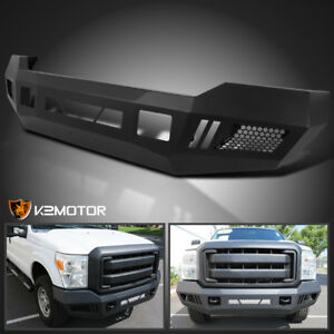 Fit Ford F250 F350 2011 2016 Superduty Black Front Bumper Conversion Upgrade