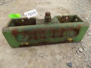 John Deere Front Suitcase Weight Bracket Came Off A 4040 Tractor S p00449