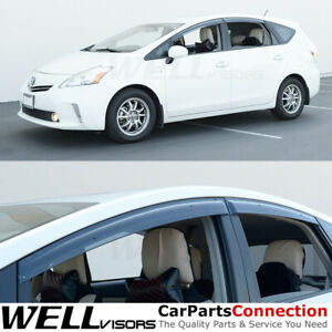 Wellvisors Window Visors Wind Deflectors For Toyota Prius V 2012 2018 Rain Guard