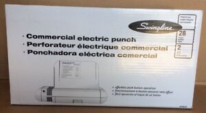 Swingline 2 Hole Commercial Electric Punch 74532 opened Box