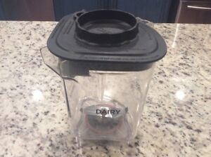 Vitamix Blending Station Advance Container Jar Dairy With Black Lid Blade 48oz