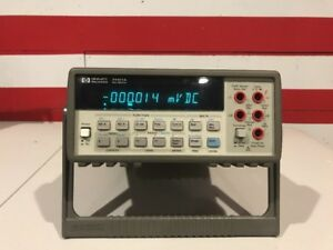 Hp Agilent 34401a Digital Multimeter 6 5 digit Tested And Guaranteed