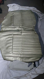 1968 Chevrolet Camaro Rear Seat Cover In Ivy Gold Bottom Only