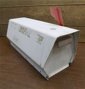 Classic Metal Us Mailbox Country Road Farm House Old School Vintage Postal A1