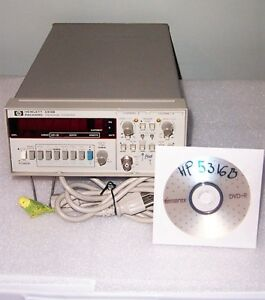 Hp 5316b Frequency Counter 0 100 Mhz Time Interval Totalizer Ratio Tested