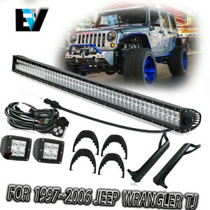 07 18 Jeep Wrangler Jk 50 Led Light Bar Combo mounting Bracket pods wiring Kit