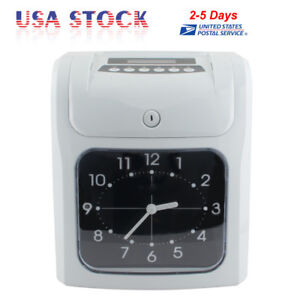 Time Clock Machine Digital Recorder Payroll Cards Employee Attendance Lcd Us Fda