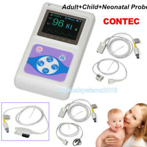 Handheld Pulse Oximeter Spo2 Monitor Blood Oxygen adult child neonatal Probe New