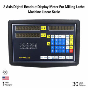 Precision Linear Scale X Y 2 Axis Digital Readout Display For Lathe Machine Bin