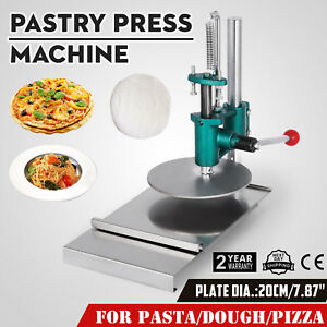 7 8inch Manual Pastry Press Machine Pizza Base Pie Crust 20cm Roller Sheeter