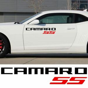 2x Chevrolet Camaro Ss Vinyl Doors Logos Sticker Decals Graphics 2011 2018