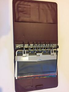 Franklin Covey Day Planner Binder W Accessories Used