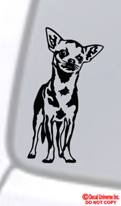 Chihuahua Vinyl Decal Sticker Car Window Wall Bumper Funny Dog Cute Puppy Paw