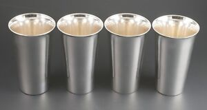 Set Of 4 Antique Frank W Smith Sterling Mint Julep Water Tumblers No Mono 4 7 8